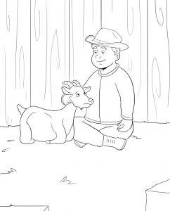 Jesse comforts Mimi before having twin goats
